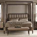 Bernhardt Clarendon Queen Canopy Bed With Channel Upholstered Bedroom Furniture Ideas Curtains Light Colored Waterbed Cherry Champagne Inspire White Apppie Org