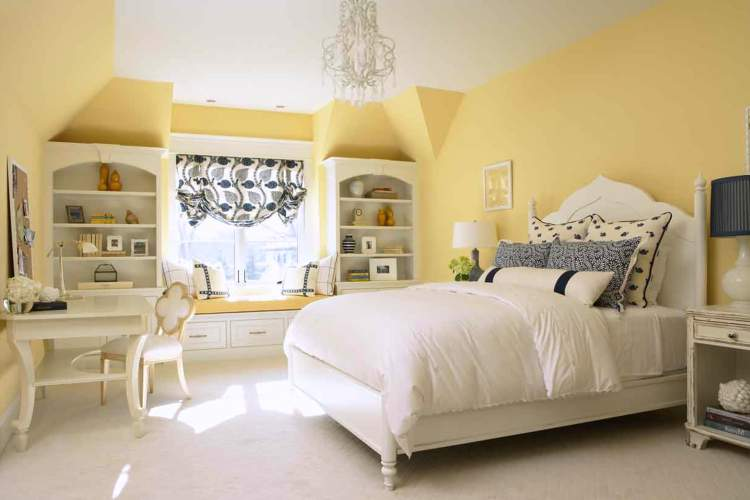 Yellow Bedrooms Design Decoration Blue And Bedroom Ideas Atmosphere Delicate Purple Decorations Soft Black Themed Furniture Decorating Home Walls Bright Apppie Org