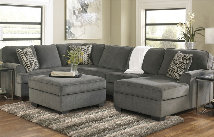 Alliston Durablend Sectional By Ashley Marlo Furniture Bedroom Sets Ideas Chocolate Brown