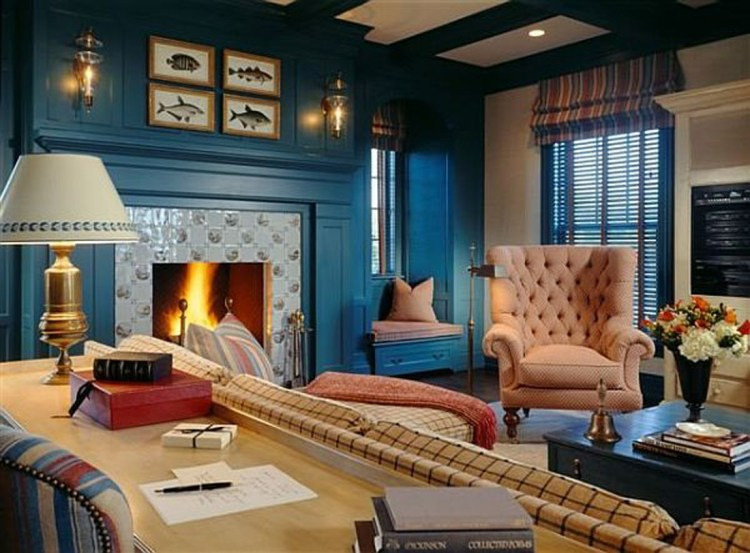 Beautiful Dark Blue Wall Design Ideas Navy Bedrooms Bedroom Atmosphere Walls Living Room Kitchen With White Trim Accent Apppie Org