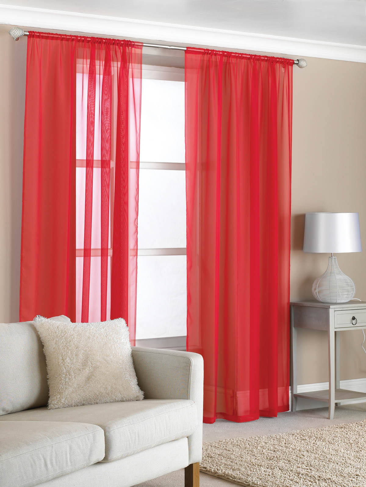 amazing red and white curtains for