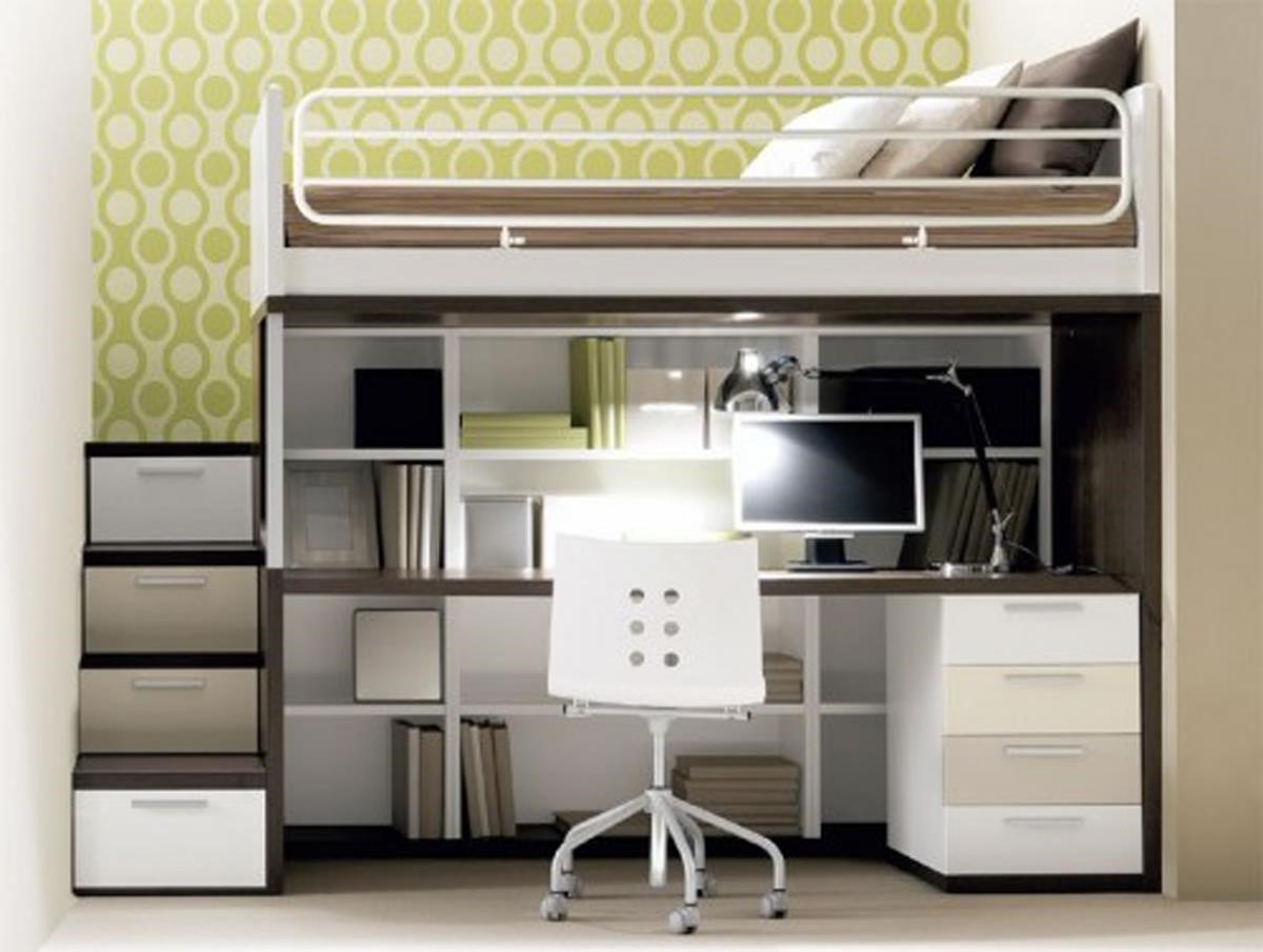 Small Bedroom Ideas Desk For Spaces Computer Wood Teenagers Loft In Closet Apppie Org