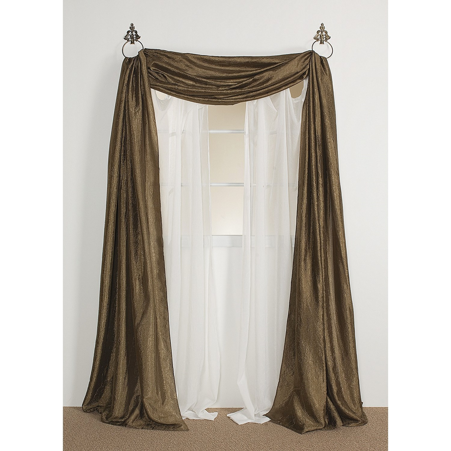 how to hang scarf curtains pictures