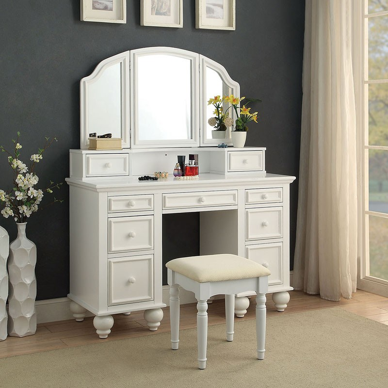 White Bedroom Vanity Set Stool Ideas Pretty Gray And Sets For Women Table Large Vanities Girls Bedrooms With Mirror Leighton Antique Apppie Org
