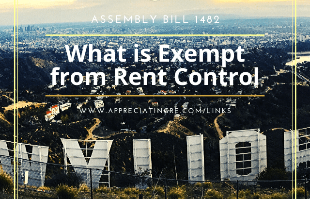 Hollywood California AB 1482 Exemptions on Rent Control