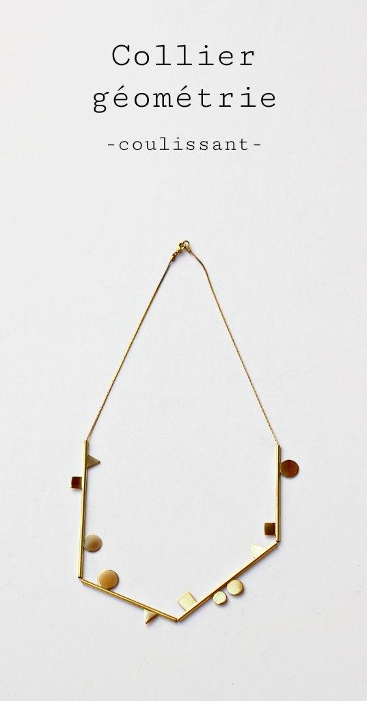 Collier géométrie - Défi 30 jours / 30 bijoux à suivre sur www.apprendre-la-bijouterie.com