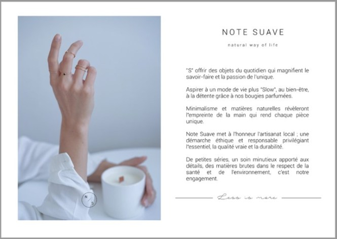 Collection Capsule Note Suave x OH LA LA ! bijoux, l'objet incarnant le Slow Design