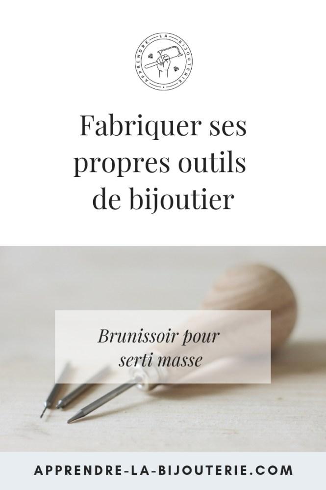 Tutoriel vidéo pour fabriquer ses propres brunissoirs (burnishers) et masses à sertir pour le serti masse sur www.apprendre-la-bijouterie.com