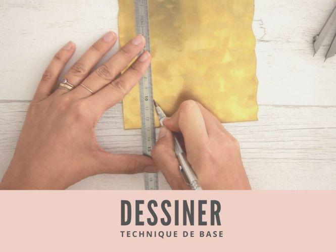 Creation de bijoux - apprendre à dessiner sur le métal