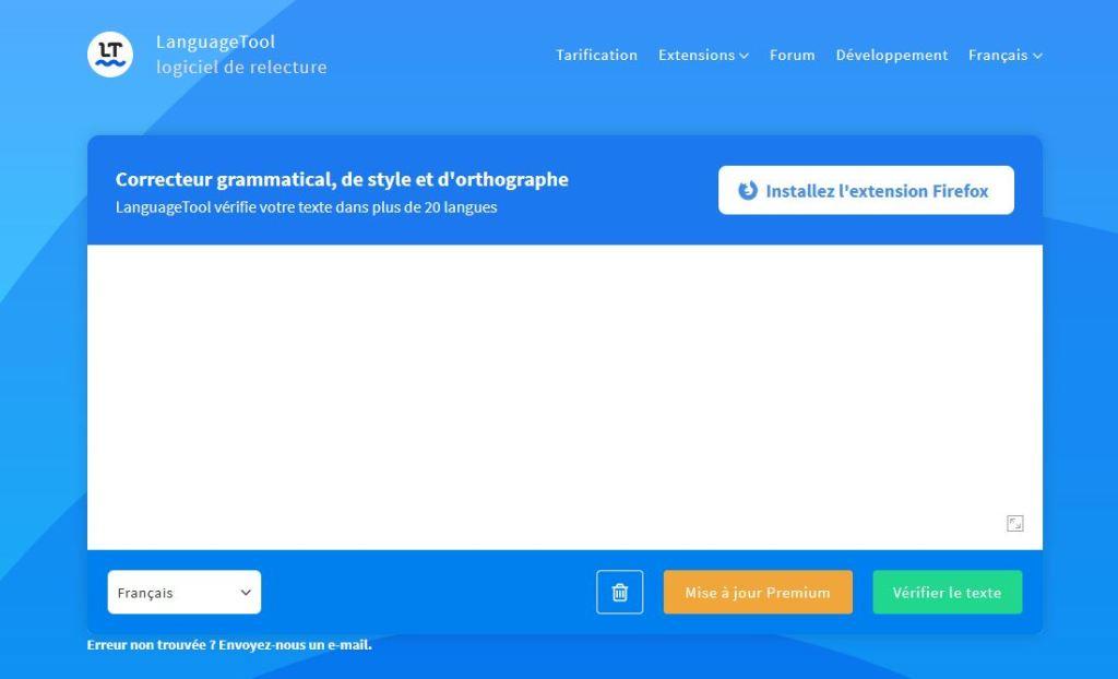 LanguageToll, un des correcteurs orthographiques disponible en ligne