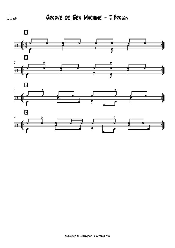 Le Groove de Sex Machine de James Brown (partition)
