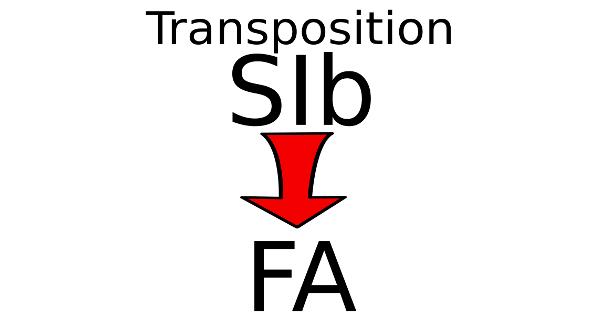 Transposer une partition en SIb pour un instrument en FA