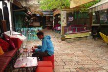 Pause café dans le quartier turc, Sarajevo