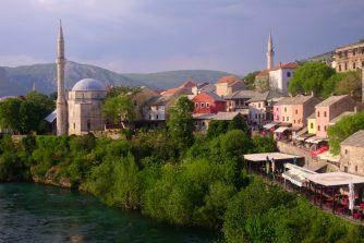 Mostar, vue du Vieux Pont (Stari Most)