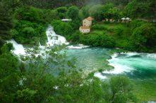 Les cascades, Krka
