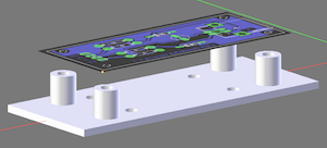 Image of the 3D-modelled adaptor used to attach the V-USB breakout board to a breadboard