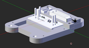 Image of the 3D model of the enclosure for the AVR microprocessor-programming device (lower part only)