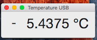 Screenshot of the Mac OS application, TemperatureUSB