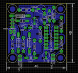 Board layout of the printed circuit board for the doorbell alert light device