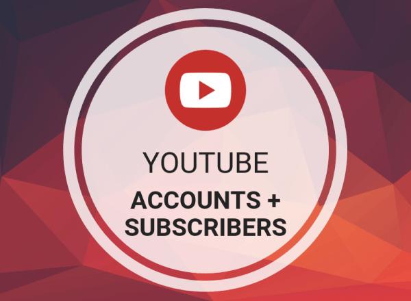 Buy YouTube Accounts + Subscribers
