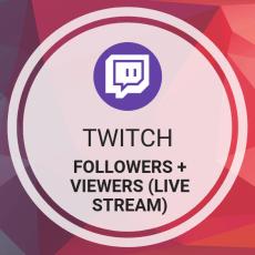Buy Twitch Followers + Viewers