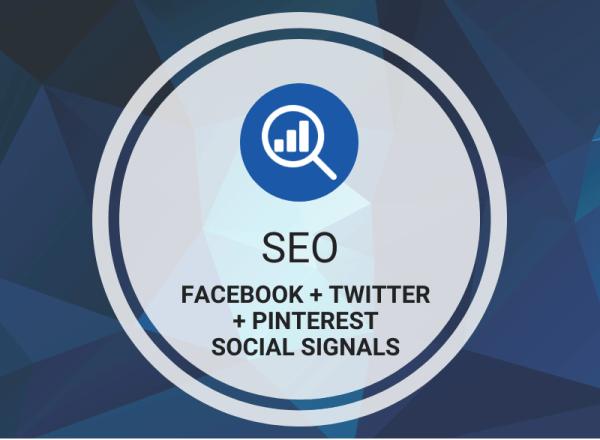 Buy Facebook + Twitter + Pinterest Social Signals