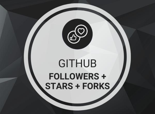 Buy GitHub Followers + Stars + Forks