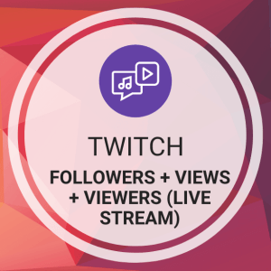 Buy Twitch Followers + Views + Viewers (Live Stream)