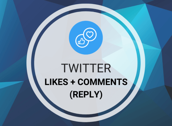 Buy Twitter Likes + Comments/Reply
