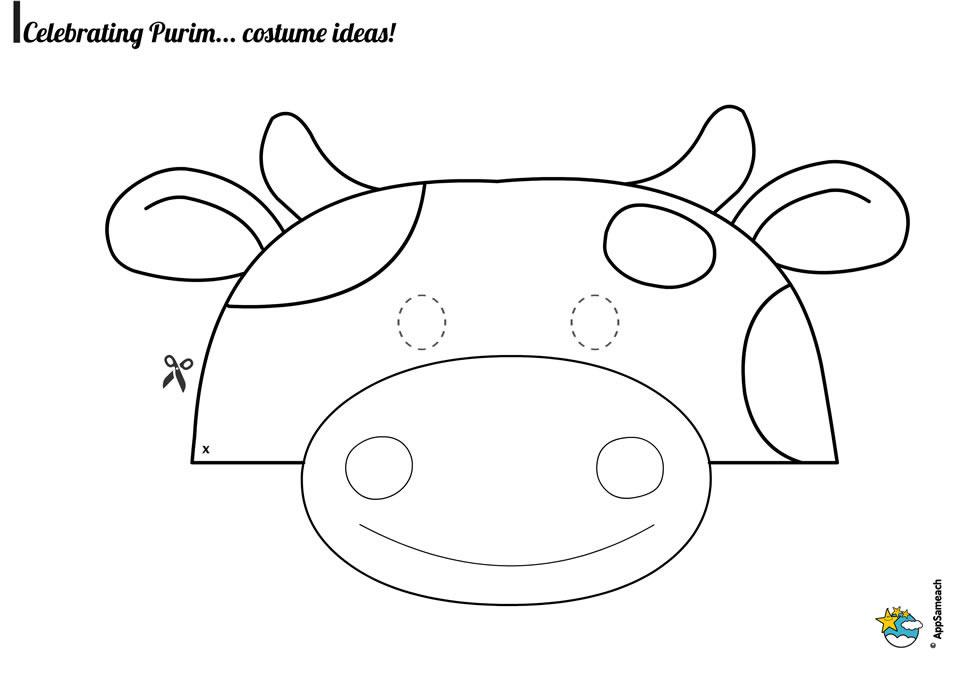 Cow Mask Printable