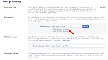 How to Unblock someone On Facebook and Messenger