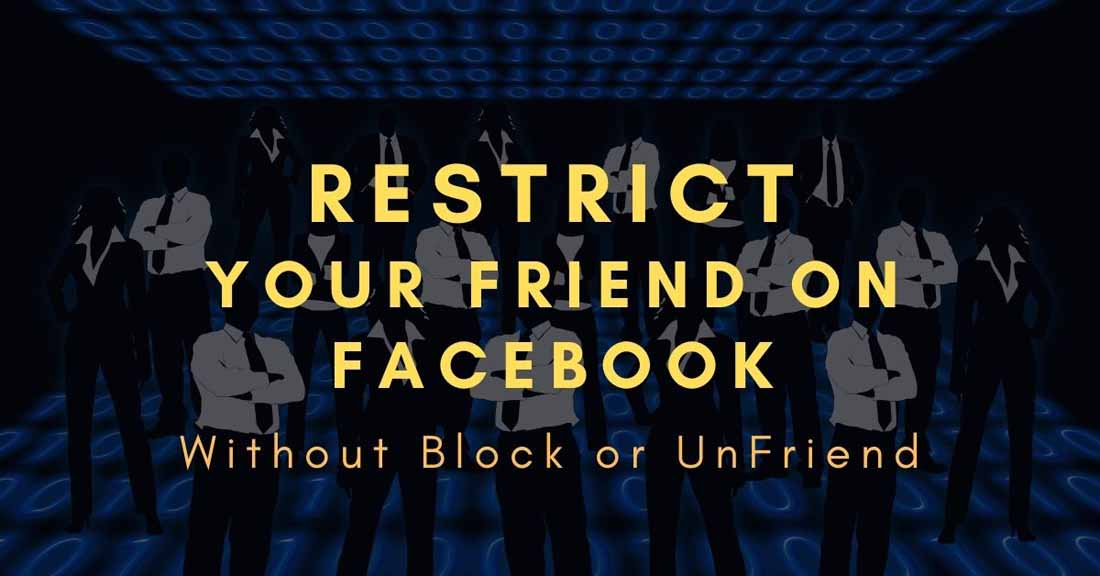 how to restrict someone on facebook