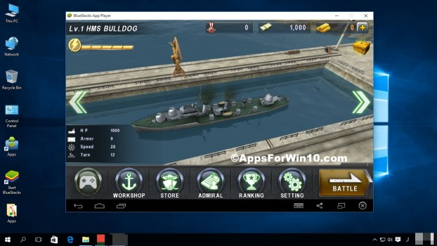 Warship Battle 3D World War II For Win 10