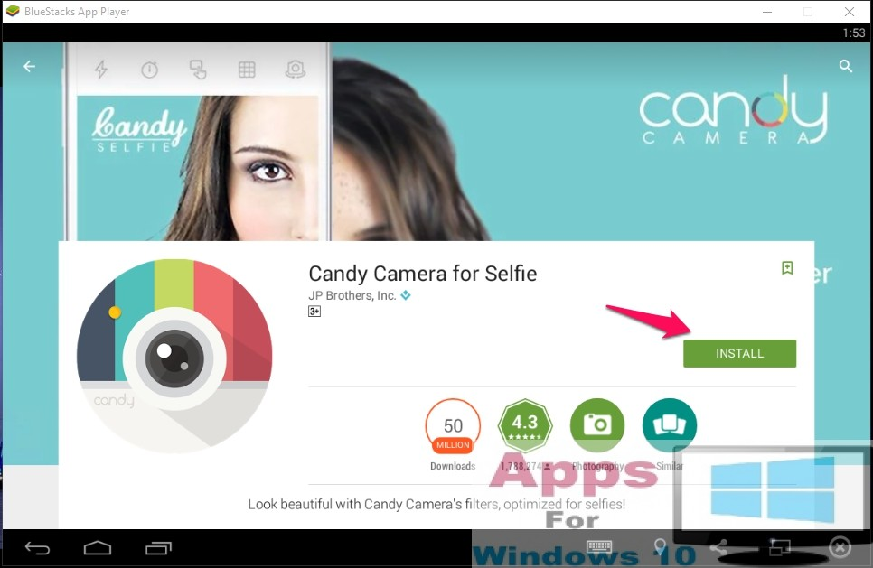 Candy camera for pc windows 10