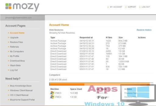 Mozy_Windows10_PC