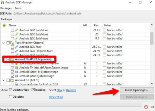 Andorid_SDK_Android_N_Setup