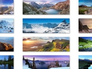 panoramic mountain theme for windows download free
