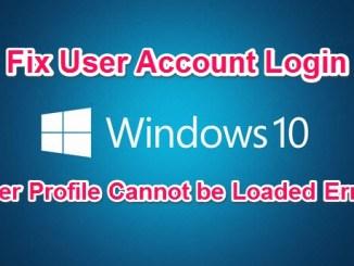 fix user profile cannot be loaded login error on windows pc