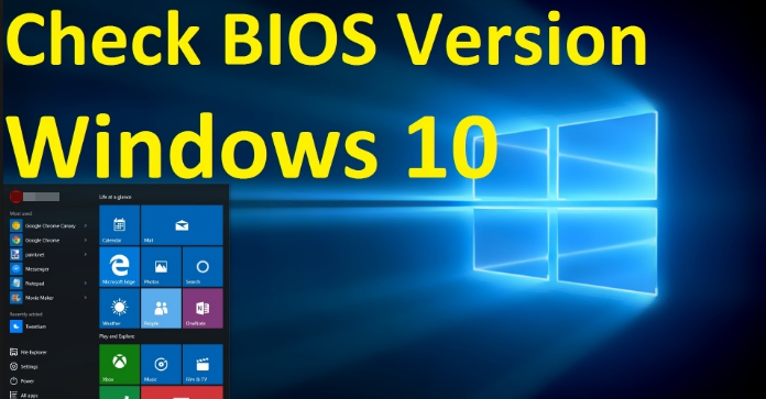 How to Check Windows 10 PC BIOS Version | Apps For Windows 10