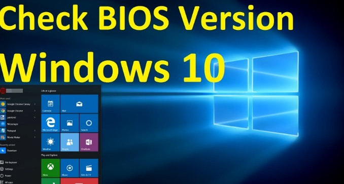 how to check bios version and update on windows 10 pc