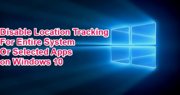 how to turn off location tracking on windows 10