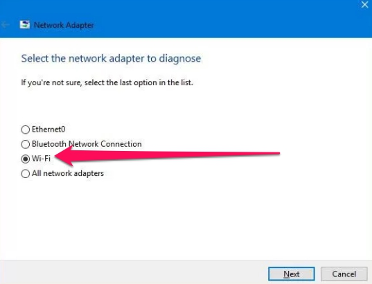 network adapter wizard win10