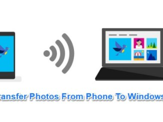 wifi photo transfer from phone to windows 10