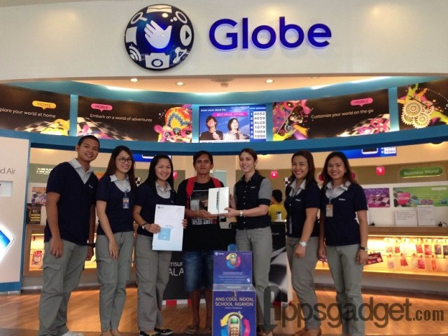 Globe Telecom Raffles off Gadgets for Project 1