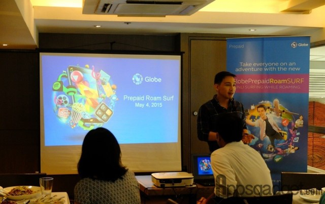Globe VP for Platinum and Roaming Business Coco Domingo announces that the P599 flat rate for unlimited data roaming service is now available to prepaid users