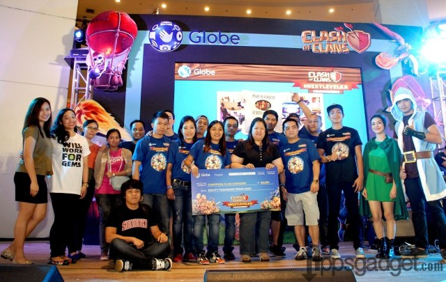#NextLevelKa Manila CoC Tournament Champion Clan Pinoy Playhouse with team leader Edenlyn Garcia