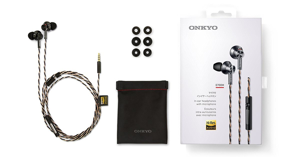 Onkyo E700MB/27 Hi-Resolution In-Ear Headphone Review