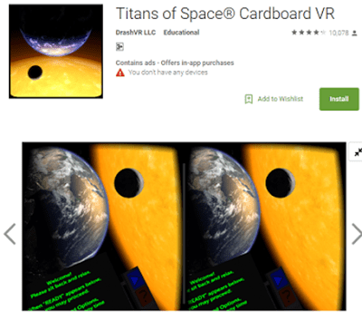 Titans of Space Cardboard VR