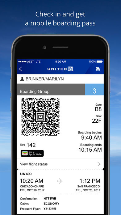 United Airlines iPhone App  App Store Apps