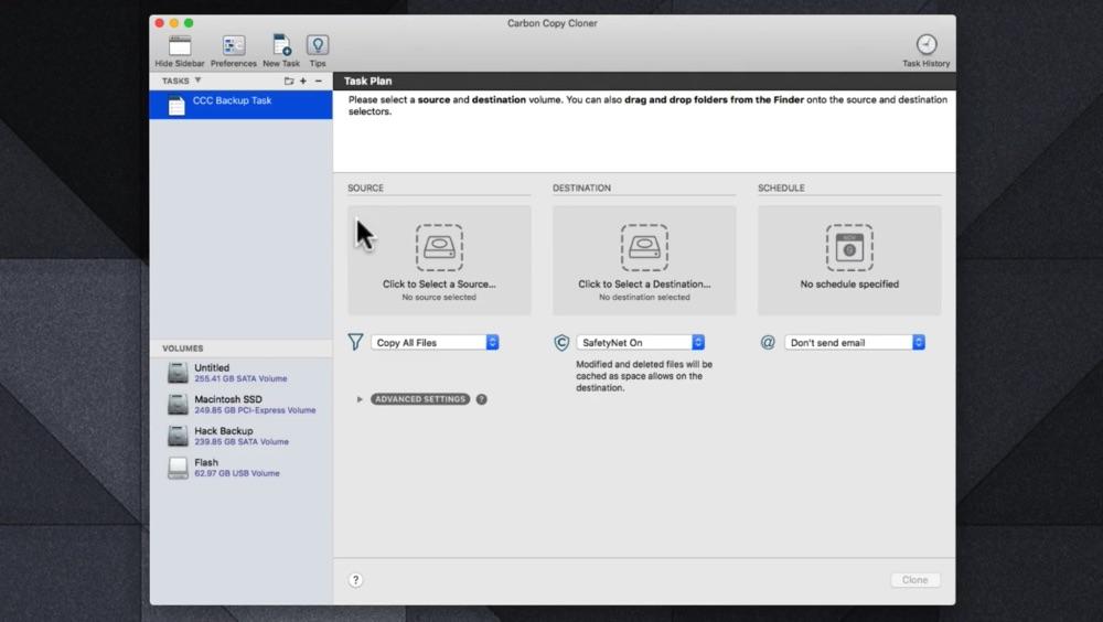 Скачать Carbon Copy Cloner 5.1.19 (6027) HCiSO на Мак с ключом активации (Crack) бесплатно и без ...